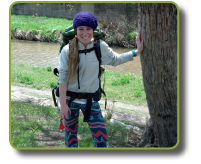 Maddie Hiking with CLE Serves in Spain