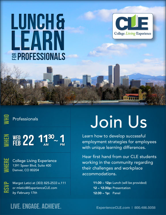 Lunch and Learn for Professionals at CLE Denver