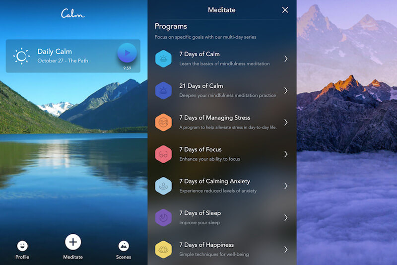 Using apps for meditation and mindfulness